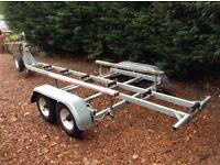 4-wheel boat trailer