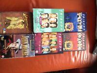 DVD's Friends, John Wayne, Indiana Jones collections