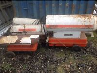 5 x Space heaters being sold as a job lot for spares. Price os OVNO for all and NOT each !!!BARGAIN