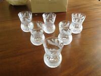 6 whisky crystal glasses