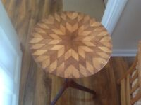 Marquetry top table