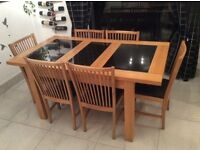 Dining Table and Six Chairs - Great Condition