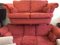 Large 3 seater and 2 seater good clean condition free delivery