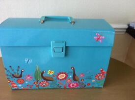 Peacock design filing box as new