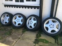 Mercedes AMG 18 inch alloys 8.5 and 9.5 staggered Genuine