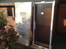 Shower Enclosure Pivot Door (made by Daryl) 800mm