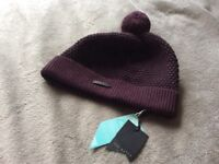 Ted Baker Beanie Hat, new with tags.Ideal present!