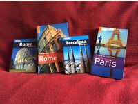 Paris, Rome and Barcelona travel guides for sale