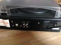 Denver VPL-100 USB Hifi Turntable Record Player AUX-In MP3