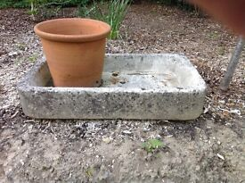 Very old household sink, limestone,over 100yrs old.