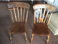 2 old wooden chairs desperate to be upcycled