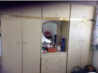 3 piece wardrobe with dressing table centre