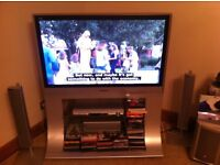 Panasonic 42 inch plasma tv with built in stand