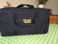 Brand new unused Mccallum bagpipe case with backpack straps