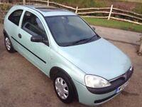 Vauxhall Corsa 1.0 club 12v 2002 new MOT
