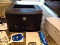 Dell Laser Printer 1710 like new, black/grey. New ink.