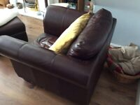 Leather Corner Sofa and Chair for SALE