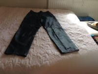 Black leather ladies trousers