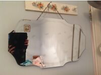 Attractive hanging mirror with imperfections £9