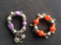 2 Charm/Bead Bracelets
