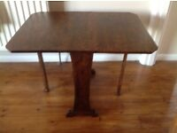 Small gate leg card table