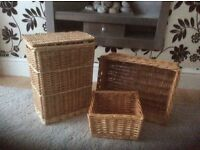 Wicker storage boxes