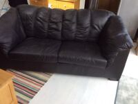 FREE Black 3 seater leather sofa