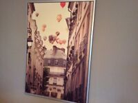 Huge canvas picture Hot air balloons in Paris IKea 140cm x 100cm