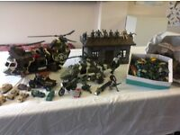 2 Helicopters, soldiers. barracks and a bag of army vehicles etc