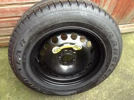Landrover freelander 2 full size spare wheel and tyre