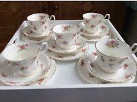 VINTAGE CHINA TEA SET CUPS SAUCERS PLATES RICHMOND ROSE TIME