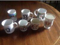 Selection of China mugs needing new homes