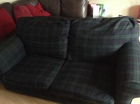 Sofa bed. Blue/green. In working order as sofa or bed.