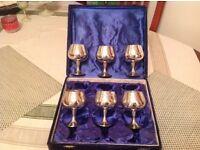 Lovely silver plate goblets