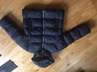 M & S Navy padded full fleeced lined boys winter coat age 7-8