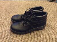 Steel toe work boots size 9.