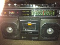 sankei 4 band radio/cassette
