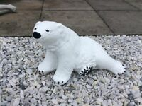 Concrete garden polar bear ornament