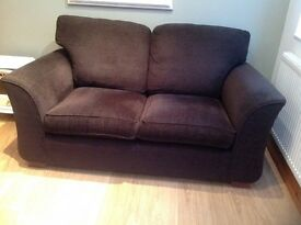 Alstons two seater sofa in chenille dark brown. Good condition. Smoke free home. Collect only.