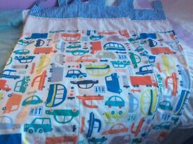 Pair of boys tab top bedroom lined curtains from next