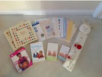 Set of baby books and scrap book