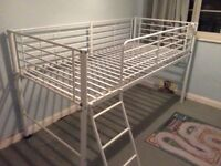 Single bed frame with ladder
