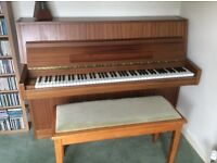 Eavestaff Piano Excellent condition Cost £1250.00 in1983 Satin Mahogany With stool £550.0