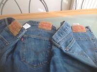 Levi 505 jeans, American import 34 x 29 leg