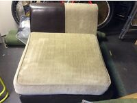SOFA CHAIR AND CUSHION BROWN