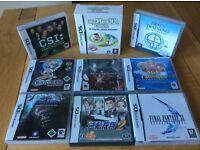 Nintendo DS lite games bundle - 9 games
