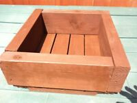 Mini Sleeper Square Planter ( Ronseal Dark Oak ) - nice bargain £ 18
