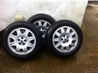 Rover 75 3 x 195/ 65 R 15 wheels with tyres
