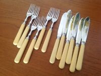 Set of 6 vintage fish knives/forks