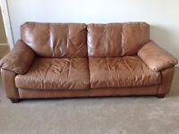 FREE: two brown leather sofas